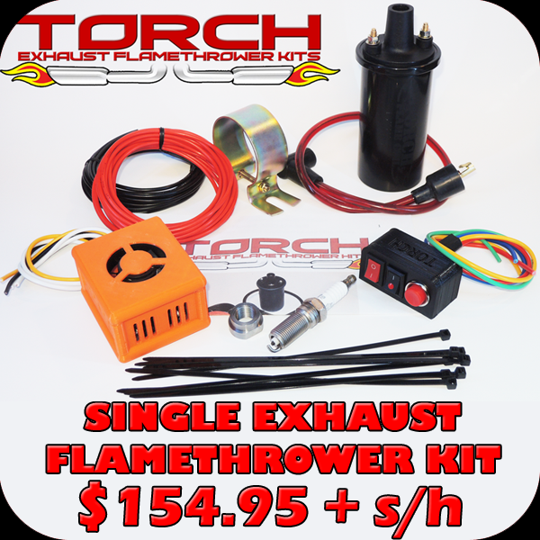 Purchase: Torch Single Exhaust Flamethrower Kit